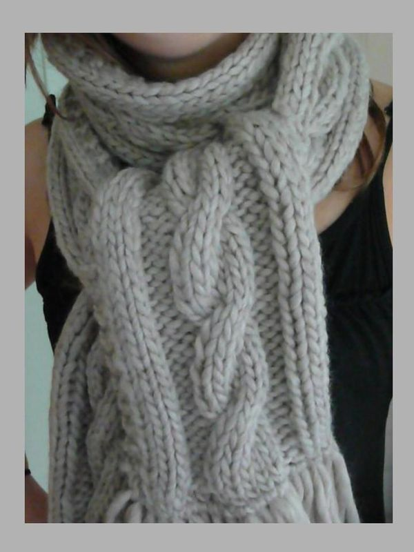 f91a8a2e5ab6 Tricoter selon un modèle tricot echarpe torsade est aisé une fois que vous  avez assimilé les