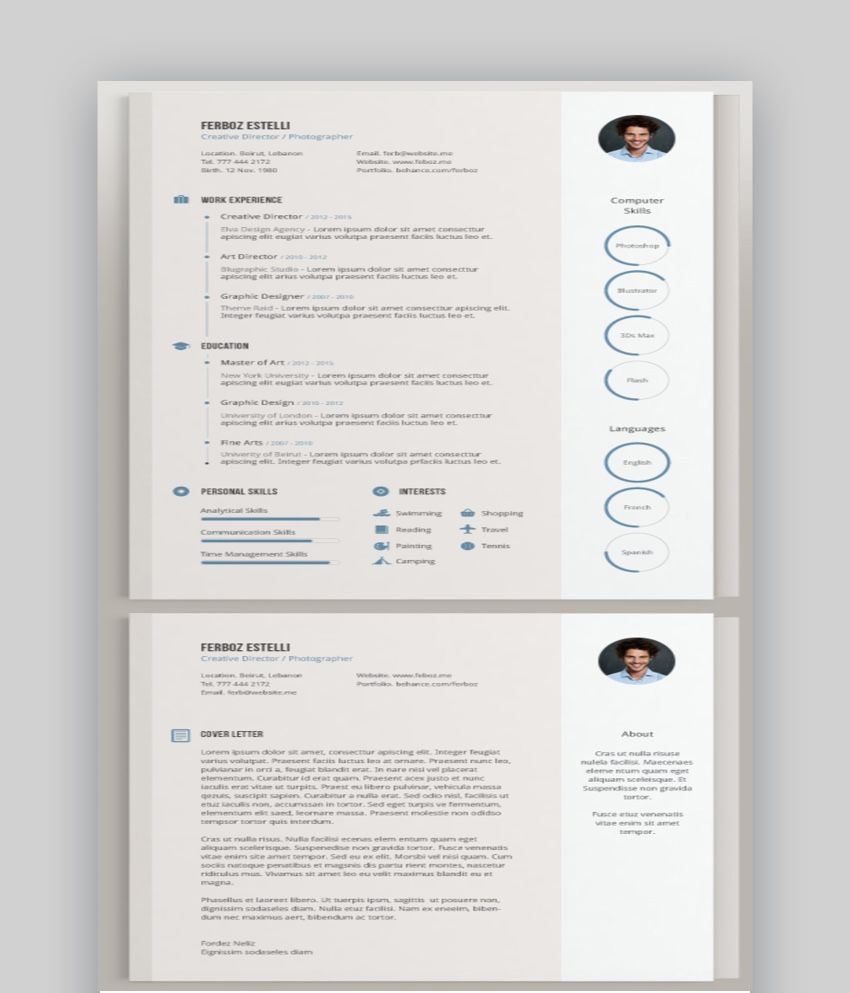 20 Awesome Illustrator Resume Template Designs to Wow