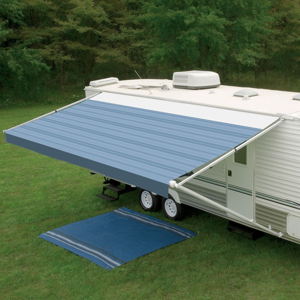 The Sunchaser Has All The Dometic Qualities Rvers Have Trusted For Years In A Full Featured Easy To Operate Manual A Fabric Awning Patio Awning Camper Awnings
