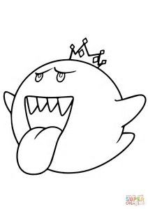 Image Result For Mario Kart Coloring Pages King Boo Coloring