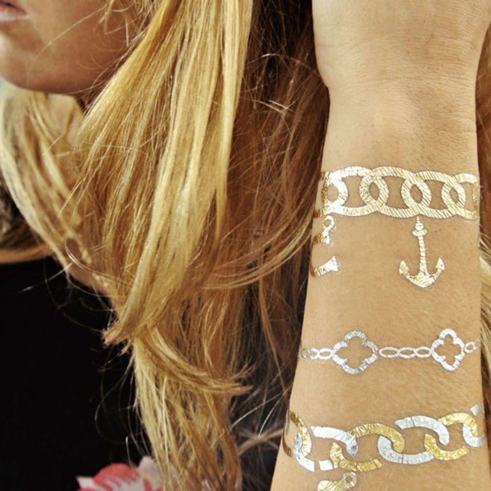 Tatuagens temporárias que imitam bijuteria
