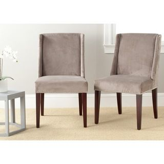 Safavieh Humphry Mushroom Taupe Dining Chair (Set of 2 ...