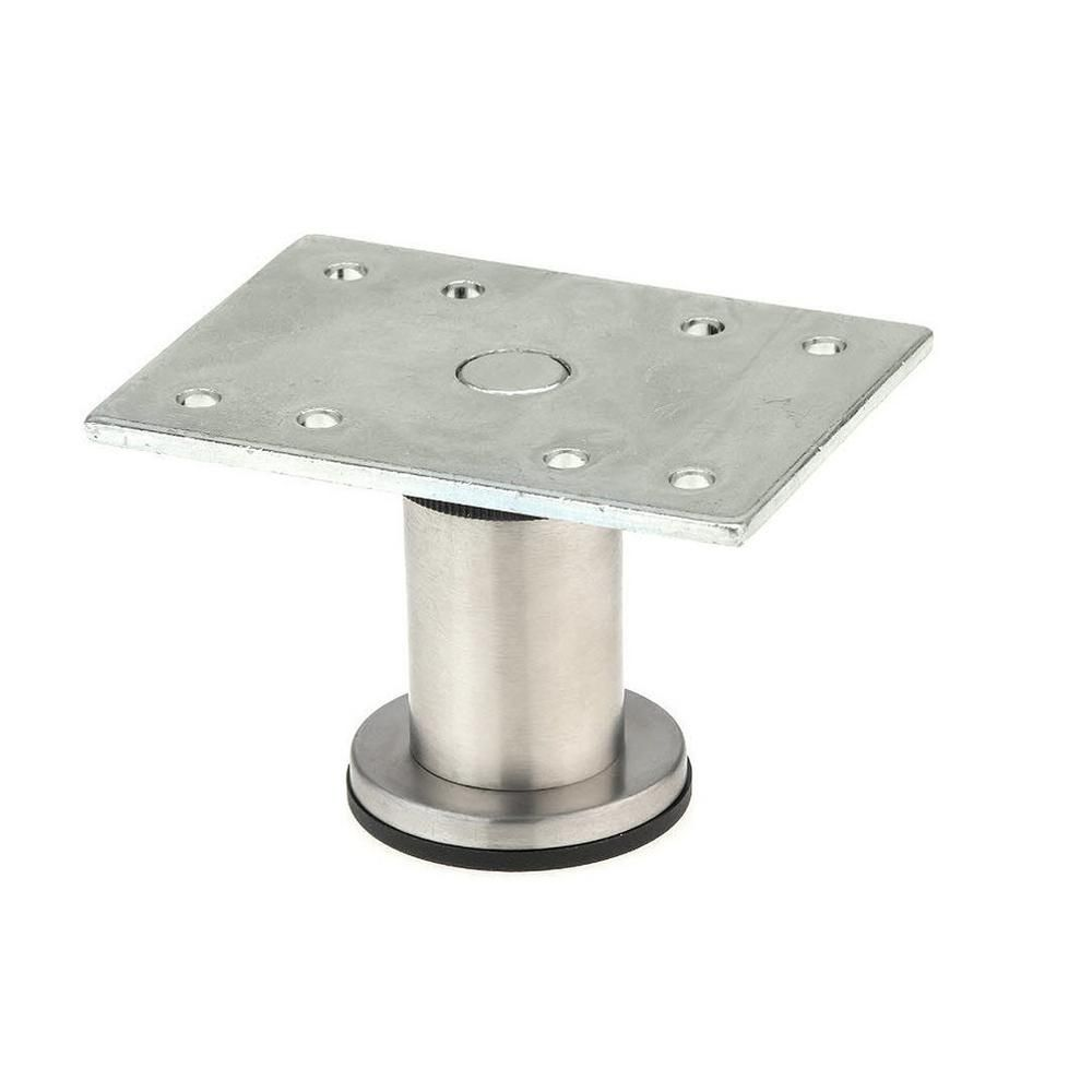 Richelieu Hardware 1 31 32 In Stainless Steel Zinc Round Leg 64217050170 The Home Depot Metal Furniture Legs Metal Furniture Industrial Bar Stools Metals