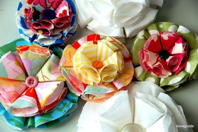 bovagoods: diy goods: fabric flowers