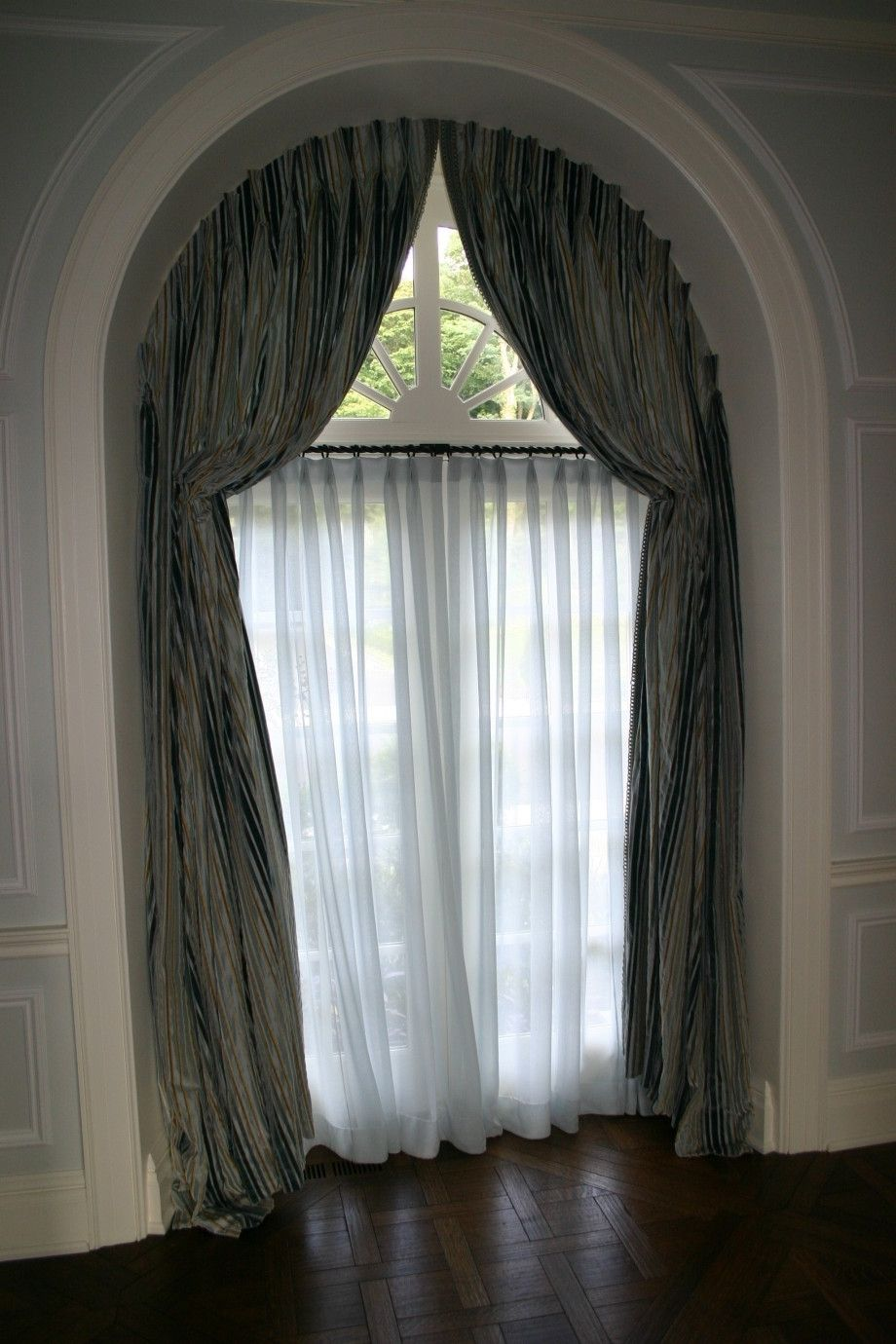 Window coverings arched windows  curtains for half moon windows  curtains  pinterest  half moon
