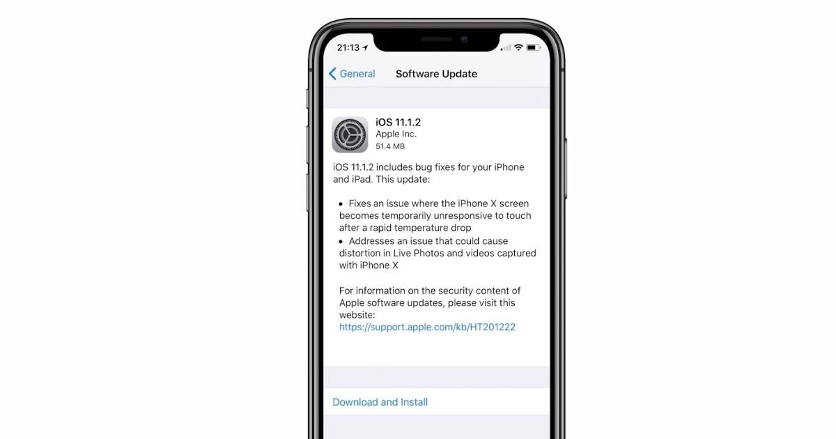 Apple released ios 1112 with iphone x bug fixes as well