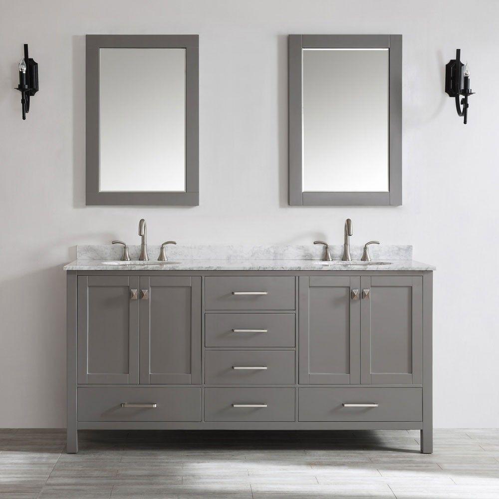 Vinnova Gela 72 Inch Double Bowl Vanity. Bathroom ...