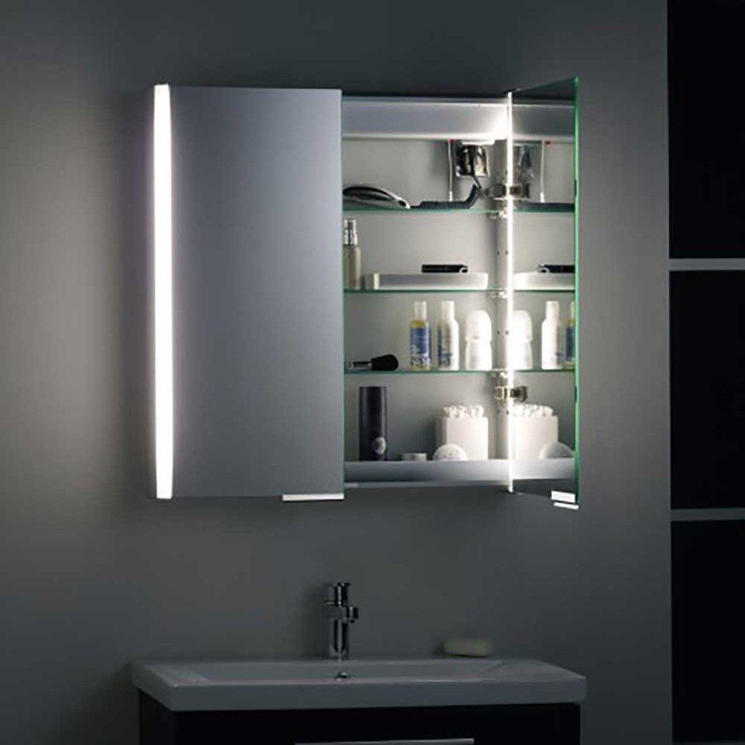 Roper Rhodes Summit Cabinet With Integrated Lighting 654 X 700mm Bathroom Mirror Cabinet Mirror Cabinets Illuminated Bathroom Cabinets