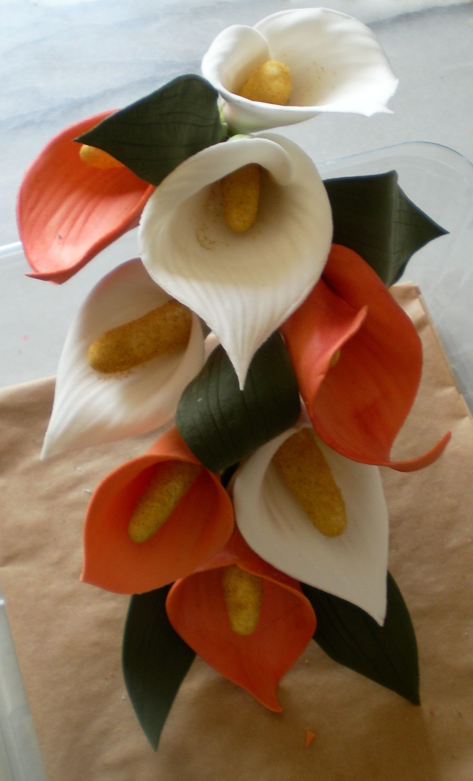 Calla lily spray hand crafted in artista soft stunning cake topper calla lily spray hand crafted in artista soft stunning cake topper to order please contact izmirmasajfo