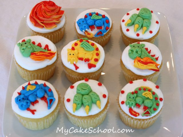 Buttercream Dragon Cupcake Tutorial With Images Dragon