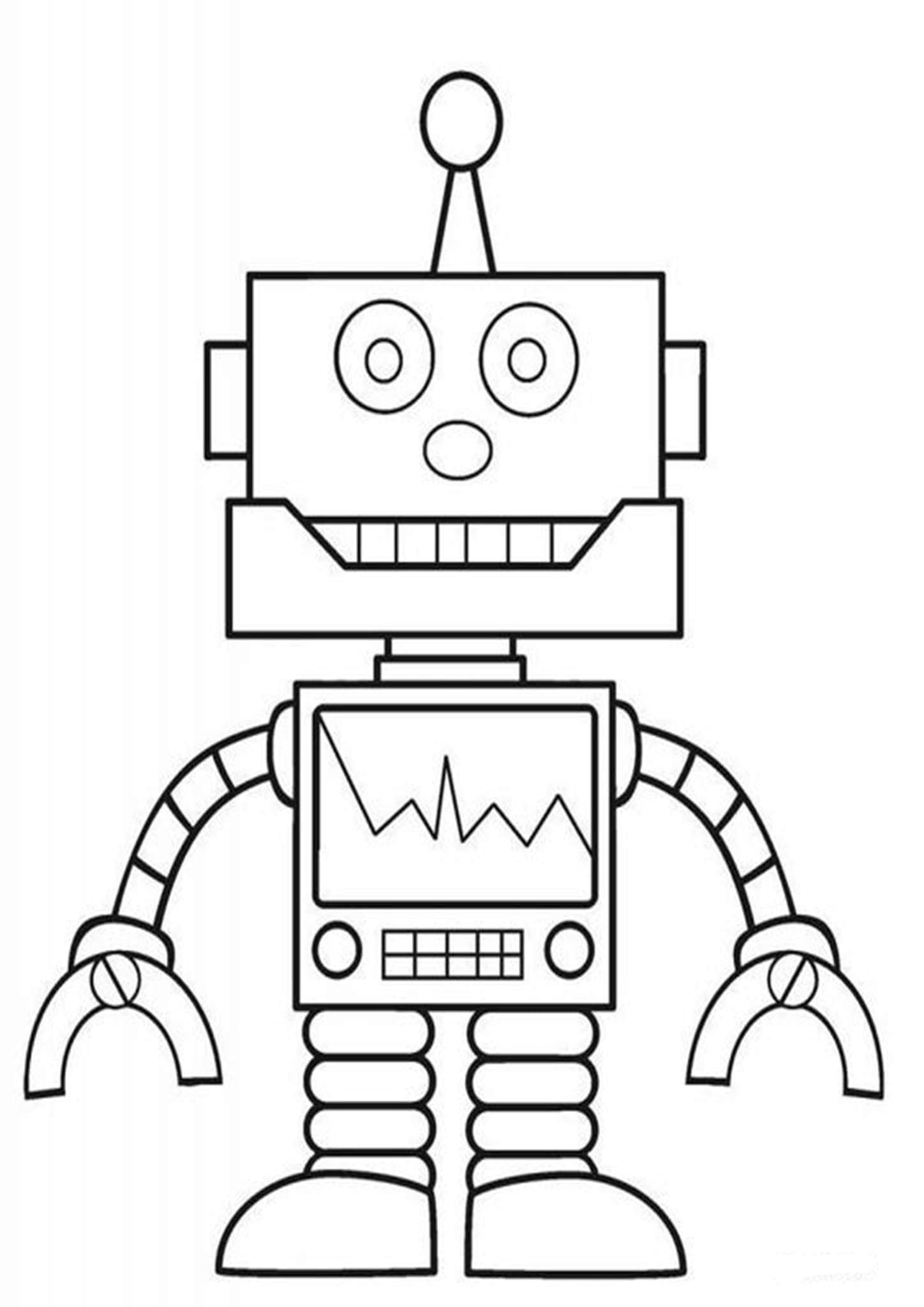 Free Easy To Print Robot Coloring Pages Free Kids Coloring Pages Printables Free Kids Free Coloring Pages