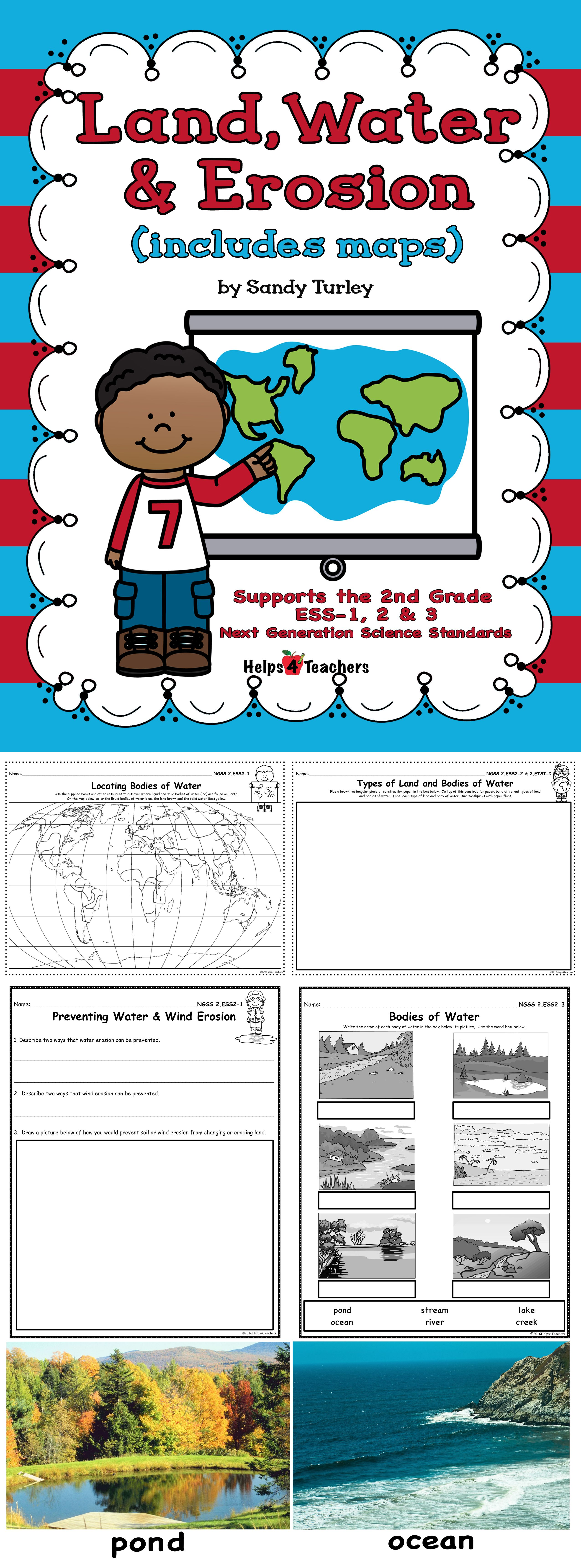 Earth Science Erosion Worksheet   Printable Worksheets and Activities for  Teachers [ 6880 x 2550 Pixel ]
