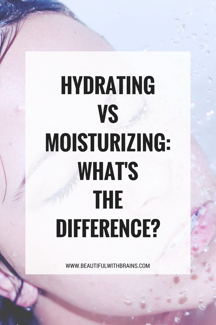 The difference between hydrating and moisturising #skincare #skincareblogger #dryskin