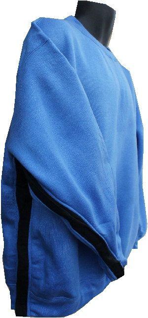 Shoulder Open Sweatshirt w/ Denim contrast  / by DressWithEase, $40.00