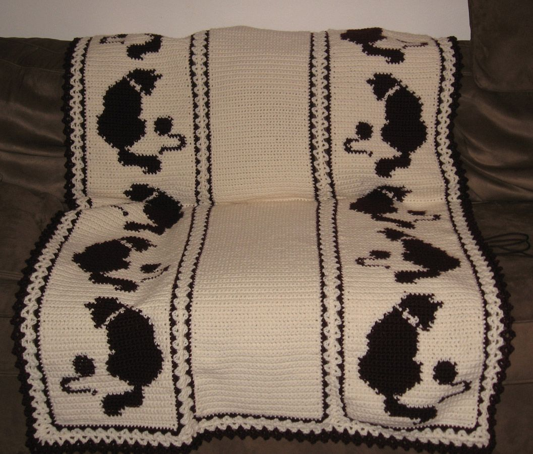 Free Quick Crochet Afghan Patterns | Cat Afghan Pattern – Catalog of ...