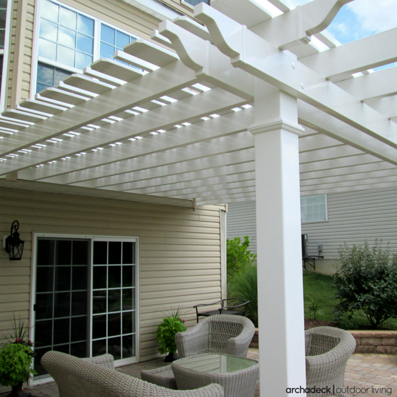 If You Have An Existing Deck Or Patio A Pergola Addition Provides Shade While Creating