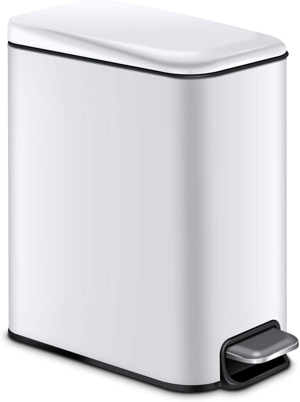 Amazon Com Magdisc Small Trash Can For Bathroom Home Office 5 Liter 1 3 Gallon Rectangular Step Garbage Ca Bathroom Trash Can Trash Can Indoor Trash Cans Small stainless steel trash can