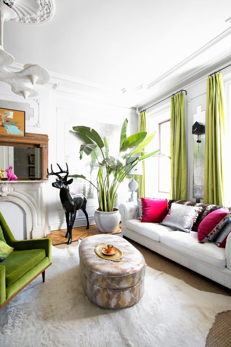 Bohemian Living Room in Brooklyn, NY by Fawn Galli Interiors | Decor ...