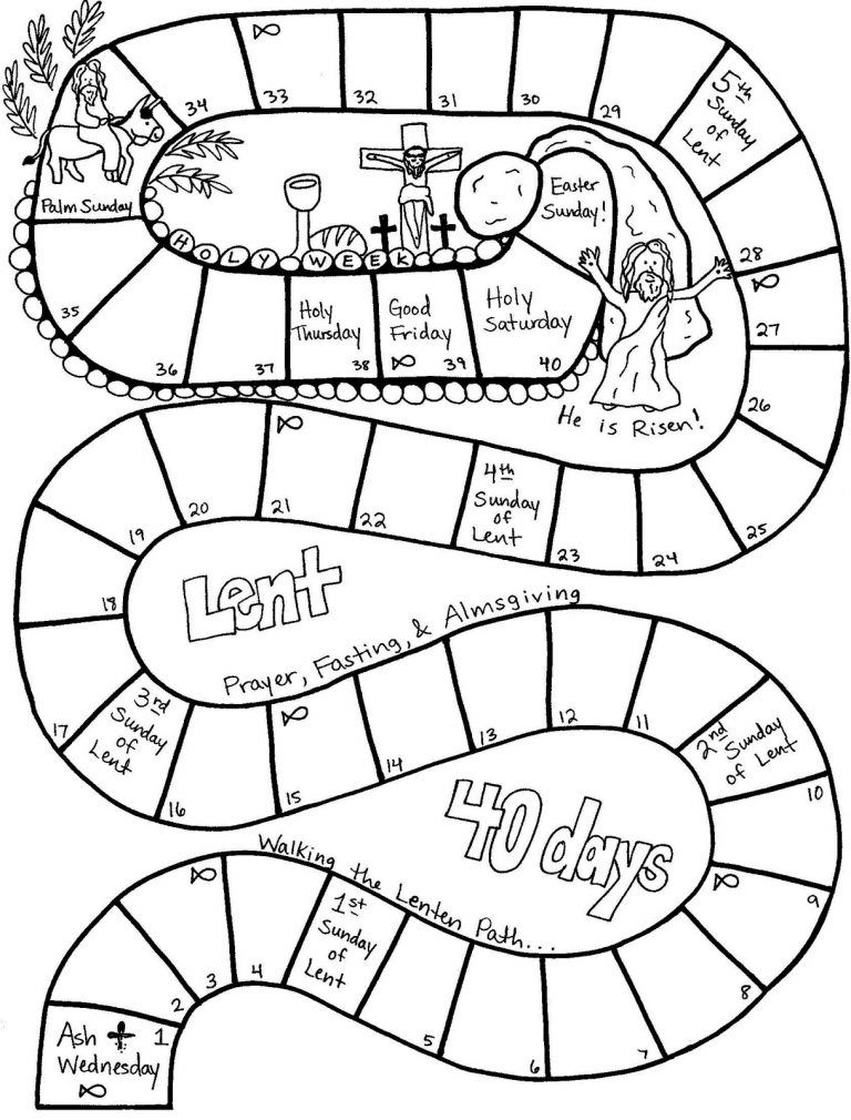 Lent Coloring Pages Best Coloring Pages For Kids 40 Days Of Lent Catholic Coloring Kids Calendar