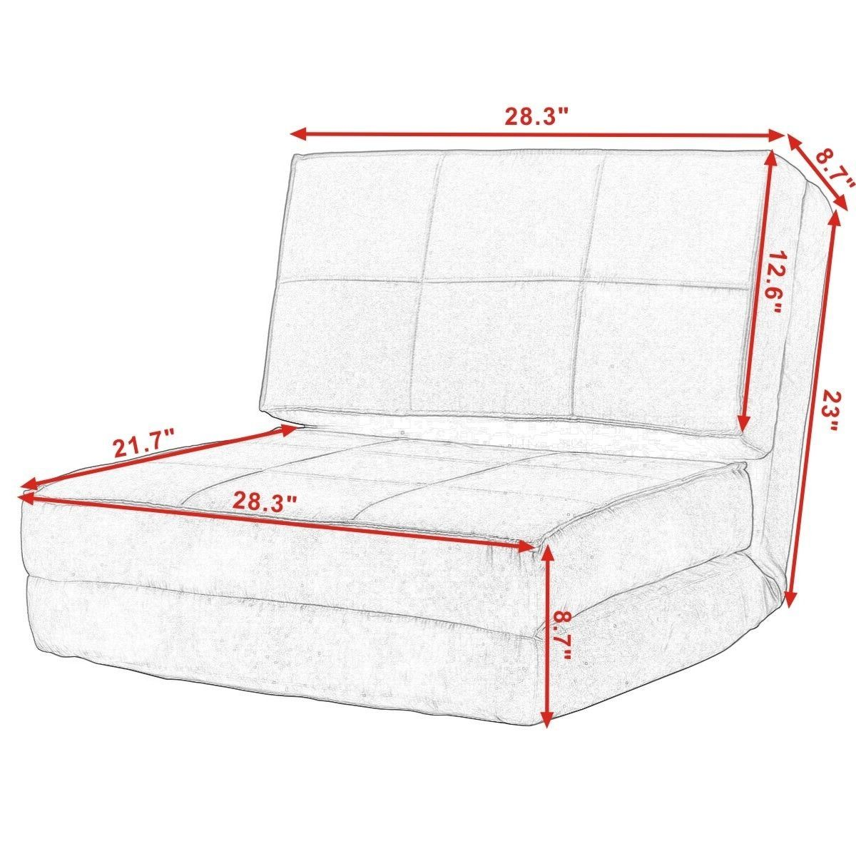 Convertible Lounger Folding Sofa Sleeper Bed Em 2020 Almofadas