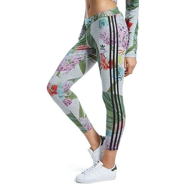 adidas Originals Training Leggings Floral Pack ($41) ❤ liked on Polyvore featuring multicolour and adidas originals