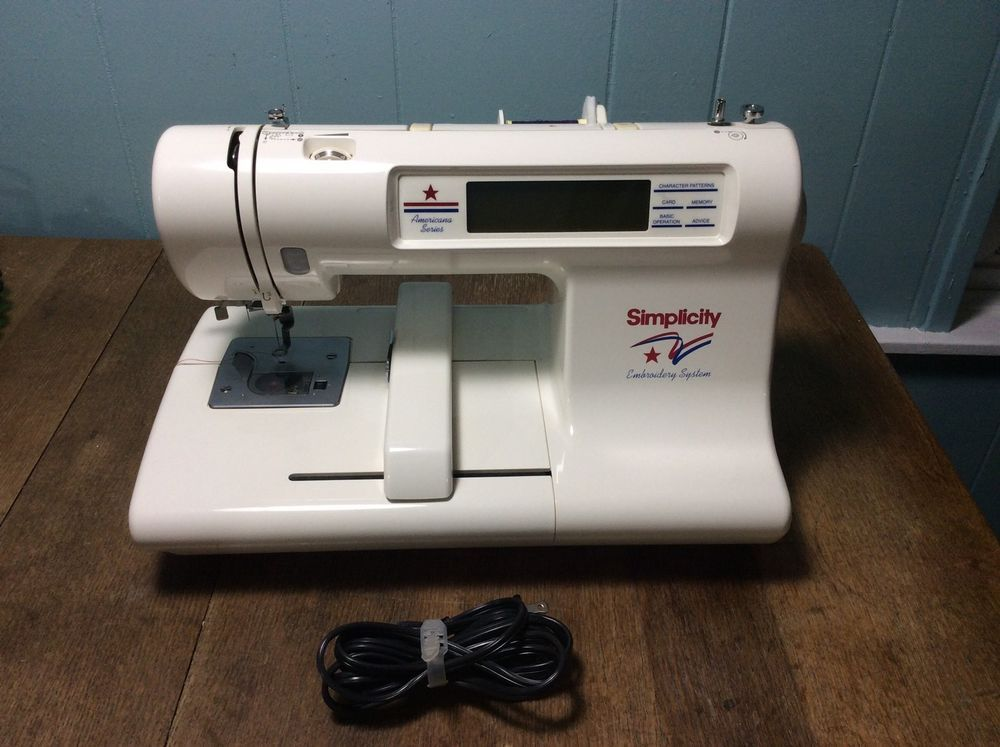 Simplicity Se3 Computerized Embroidery Machine Americana Series Nice 098612790532 Ebay