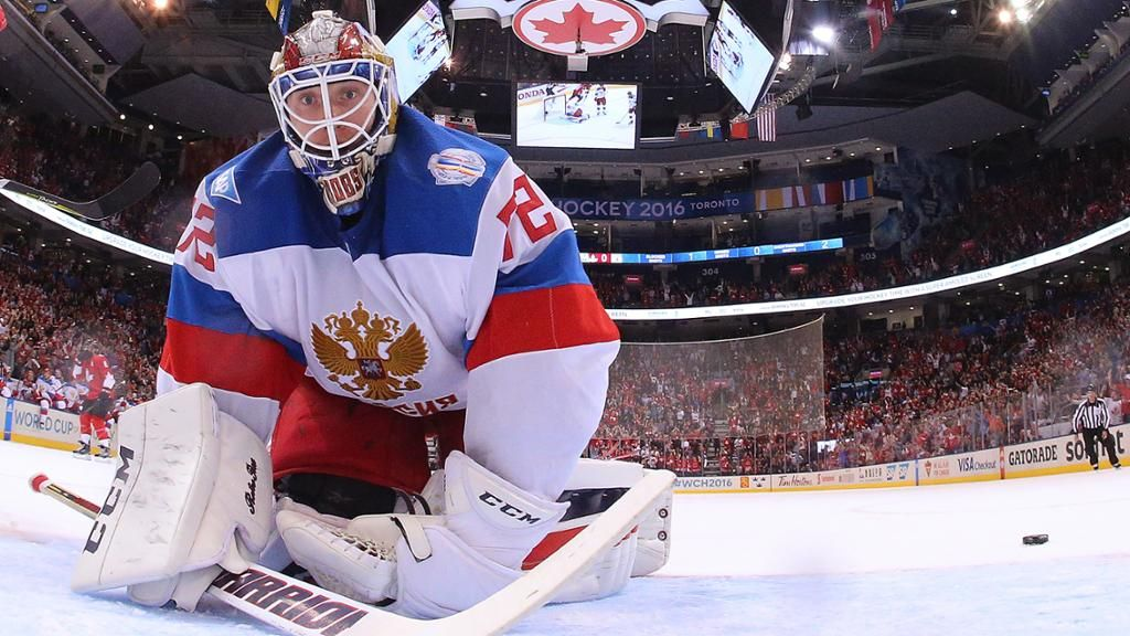 Sergei Bobrovsky Does His Part Gets Little Help Team Russia Goalie Makes 42 Saves In Loss To Team Canada At Goalkeeper Hockey World Cup Columbus Blue Jackets
