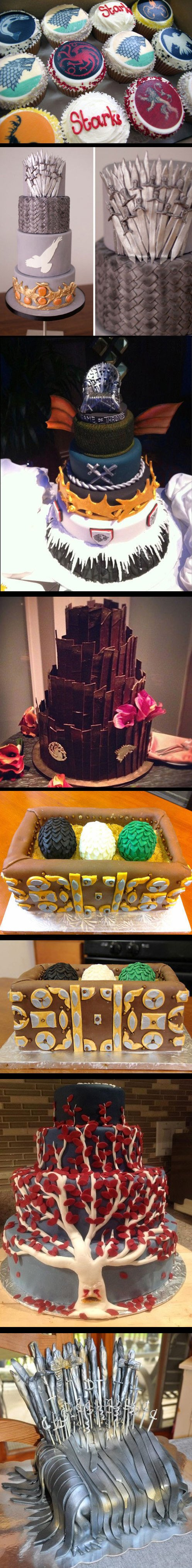 Game of Thrones Cakes and Cupcakes