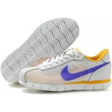 huge selection of b9a4a 0ed4e Nike Cortez Fly Motion White Purple Yellow