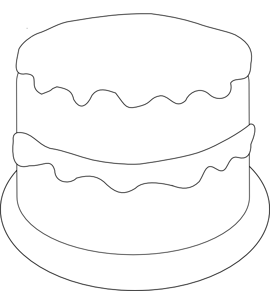 Birthday Cake Outline Template templates Pinterest ...