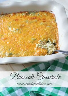 Served Up With Love: Broccoli Casserole