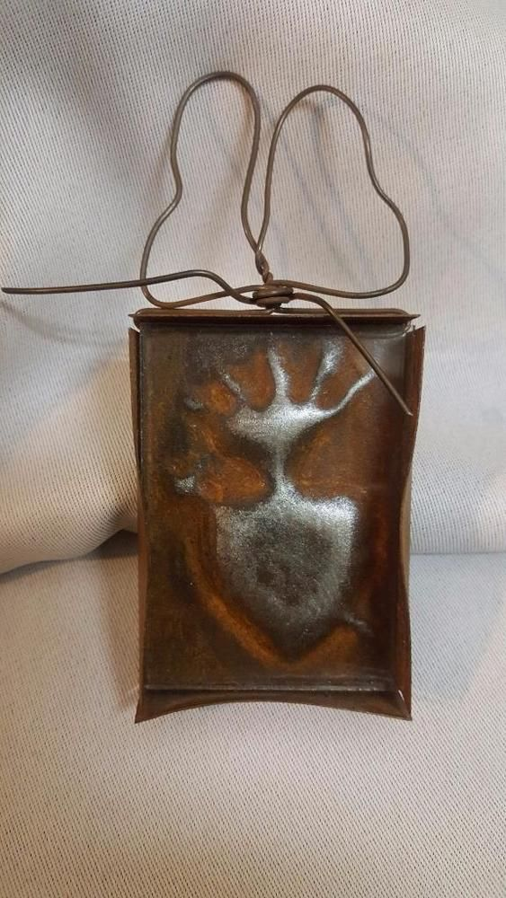 rare JAN BARBOGLIO Iron WALL HANGING PLAQUE w/ Bow framed glass ...