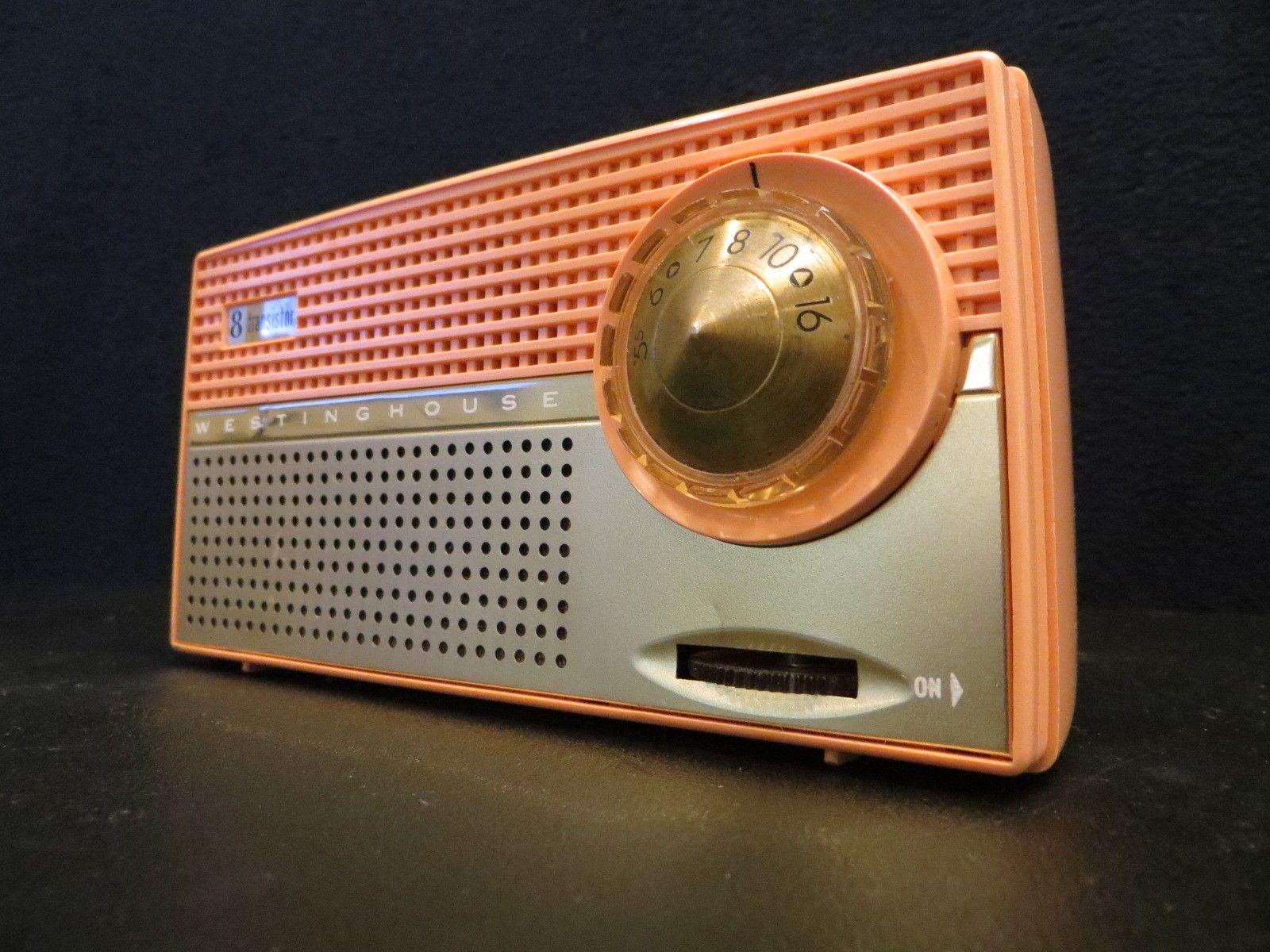 Vintage Old 1950s Pink Westinghouse Atomic Retro Antique Transistor Radio Transistor Radio Vintage Radio Antique Radio