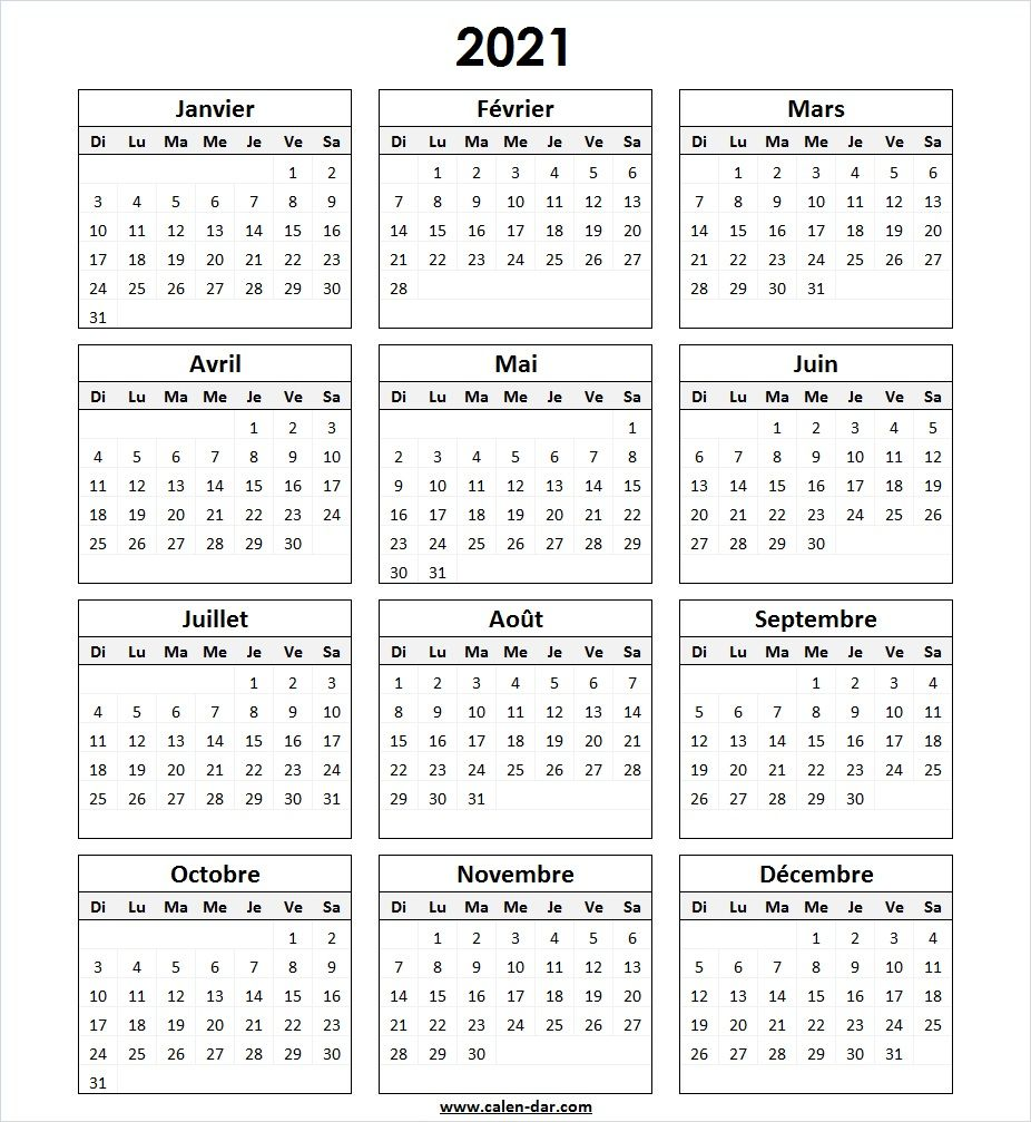 Calendrier Trail 2021 France Modèle Calendrier 2021 à Imprimer in 2020 | Bullet journal layout