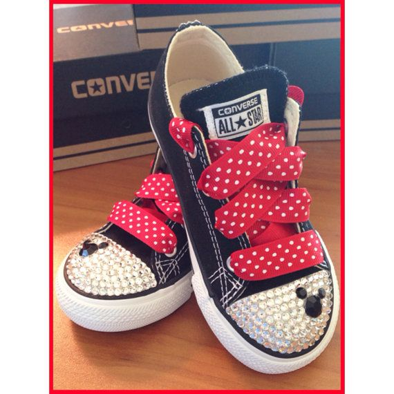 3adb240575d6 Minnie Mouse Bling Converse by Munchkenzz on Etsy