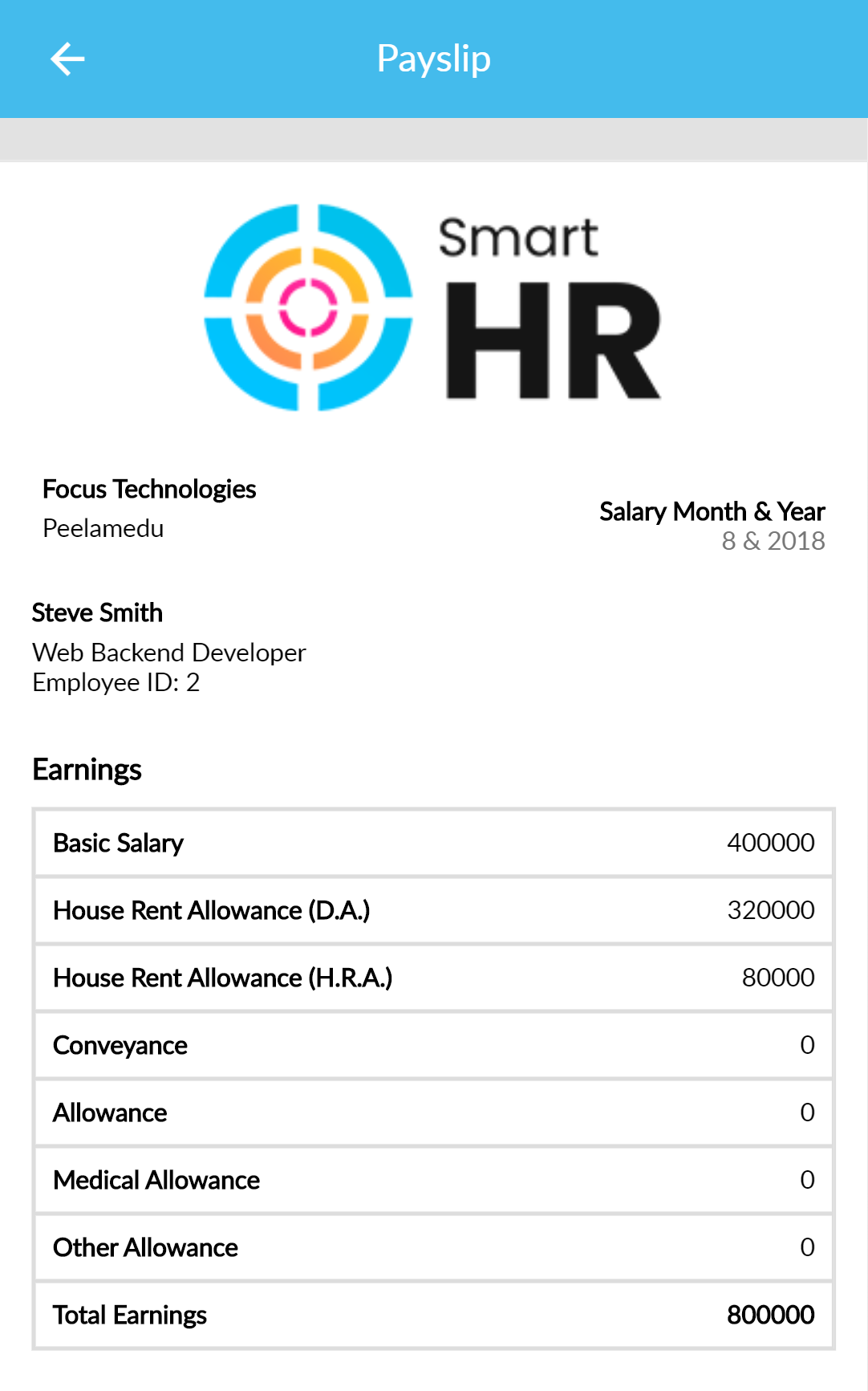 SmartHR HR, Payroll, Project & Employee Management