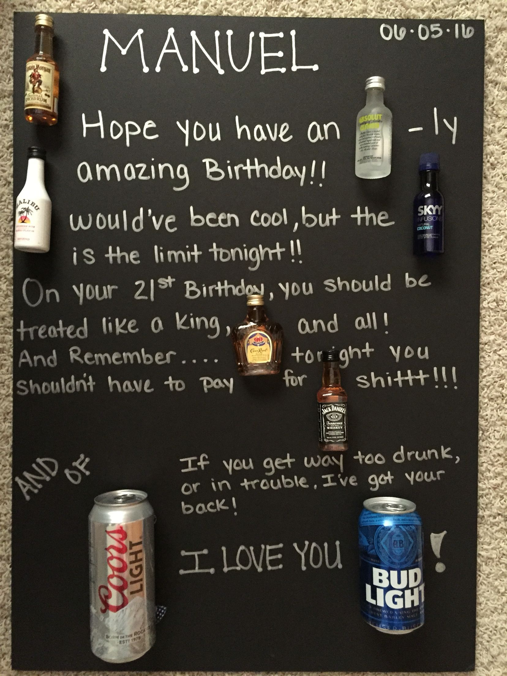 21st Birthday Poster Board Made This For My Brother