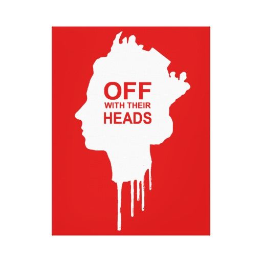OFF WITH THEIR HEADS CANVAS PRINT