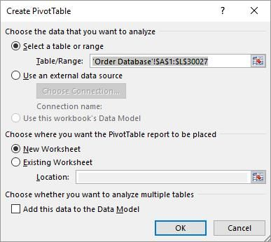 insert pivot table dialog fyi tips pinterest pivot table