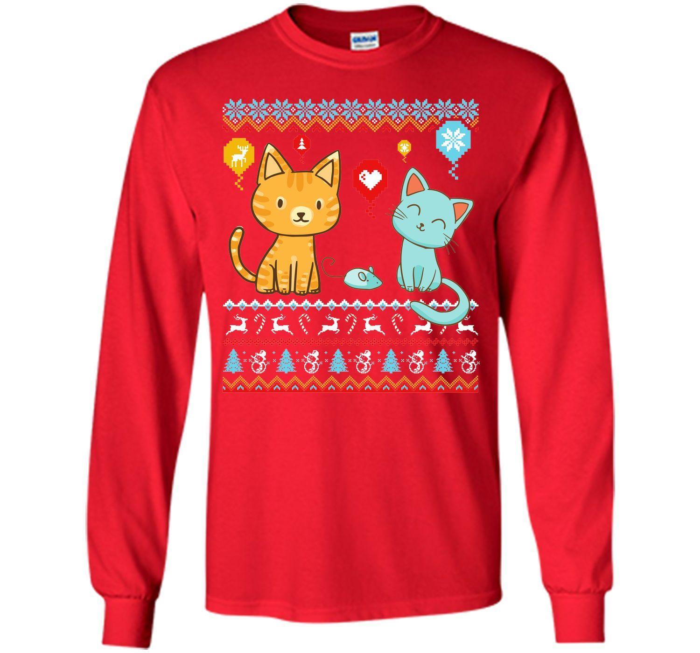 Halo Halo Christmas Cat Lover T Shirt T-Shirt