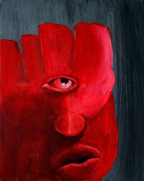 Hamsa   George Pearlman, Monster Series #monster #painting