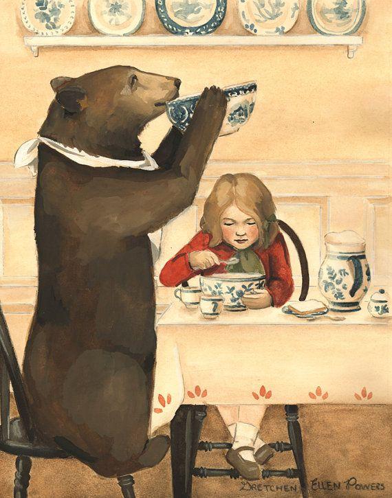 Goldilocks en de drie beren: iemand heeft het door TheBloomingHare