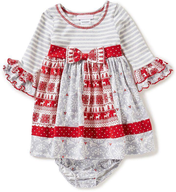 fb936a3f0 Bonnie Jean Bonnie Baby Baby Girls 12-24 Months Christmas Lurex-Knit ...