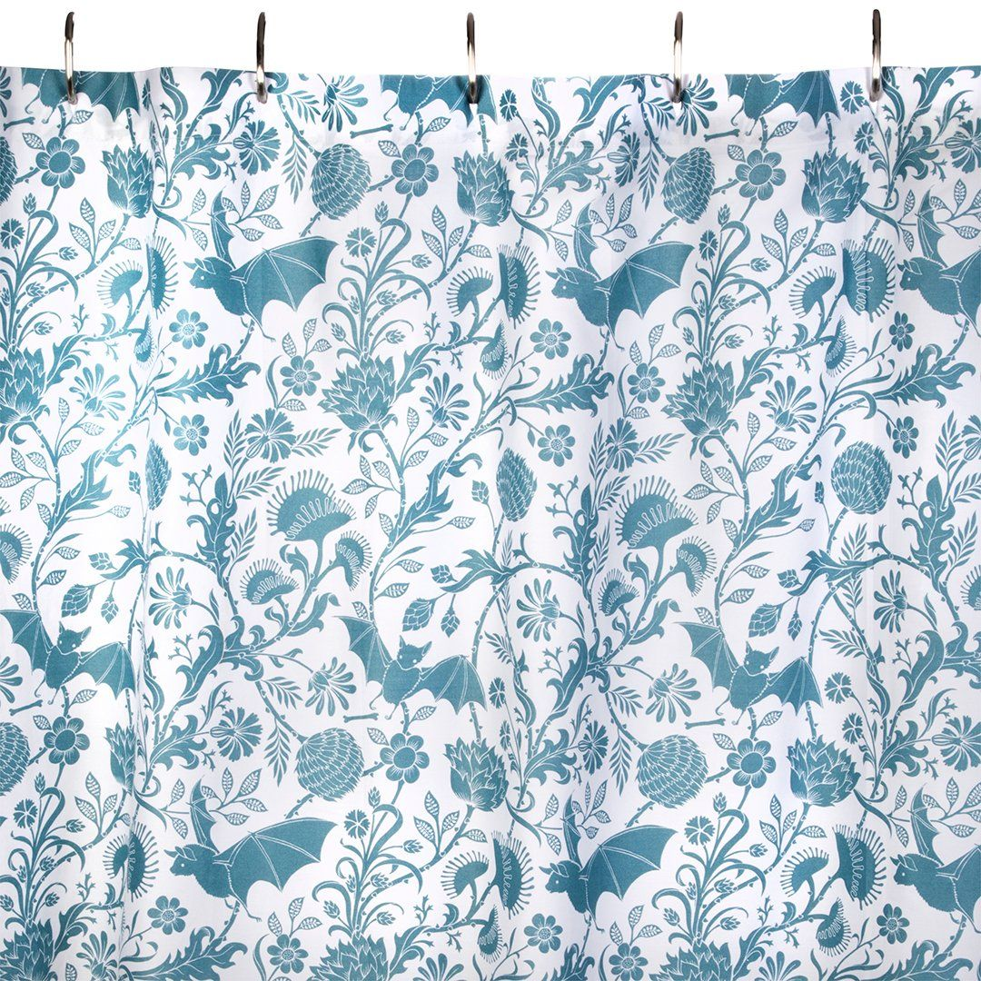 Elysian Fields Shower Curtain Blue Ships August 2017 Sin In Linen Curtains Shabby Chic Bathroom Cool Curtains