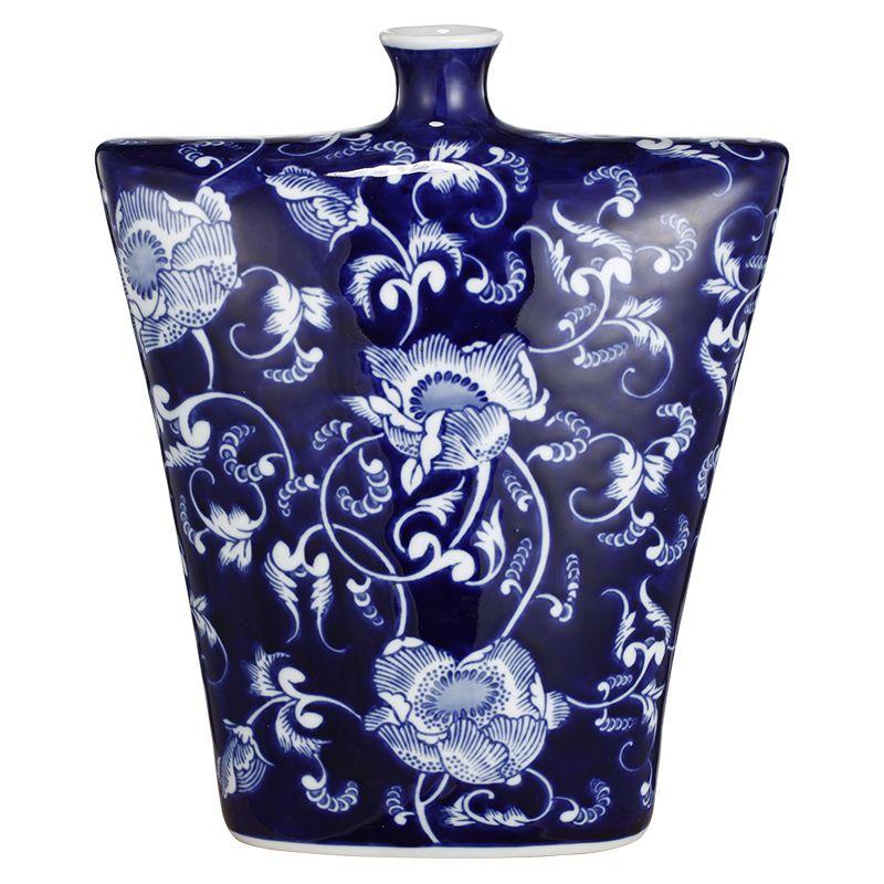 Blu Wh Flower Vase Avant 21 Design Pty Ltd Ceramic Vase Table Vases Blue Vase
