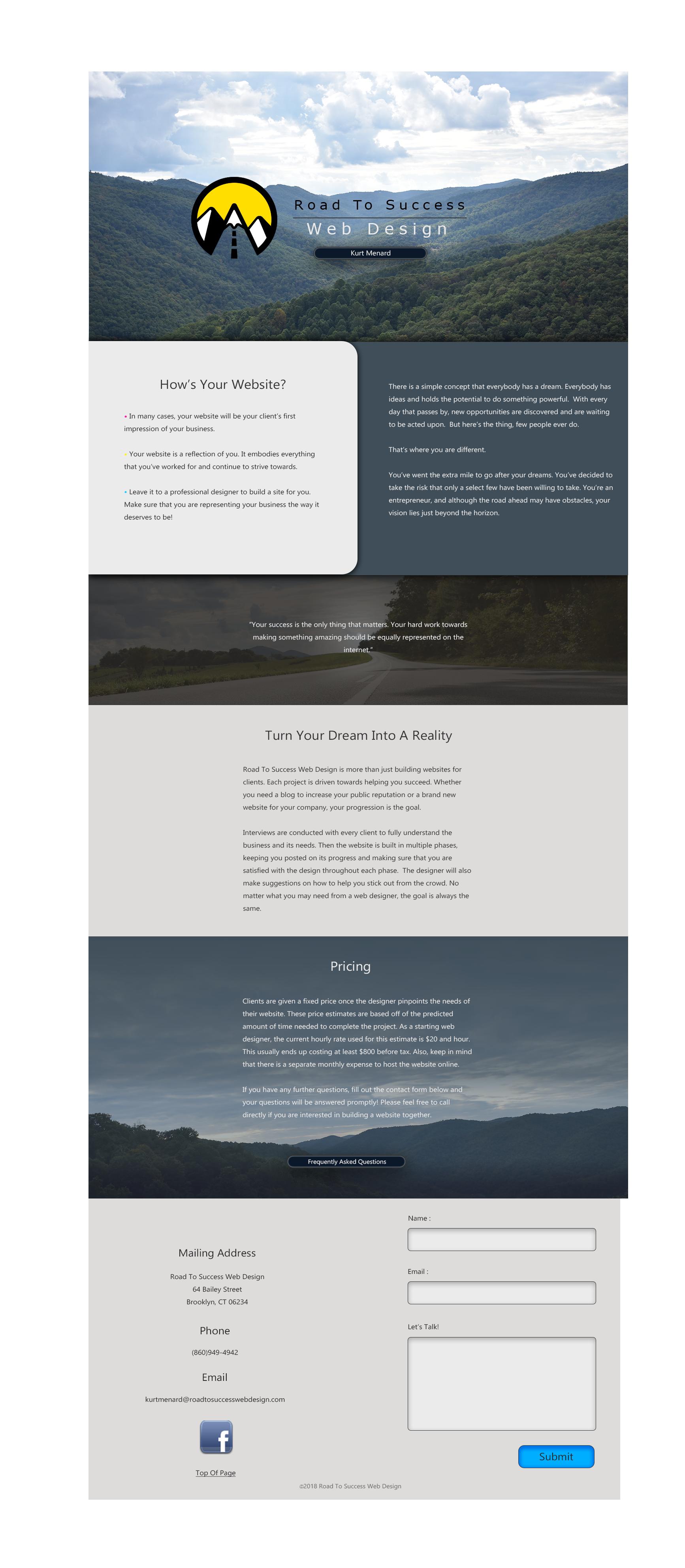 Road To Success Web Design Official Website Web Design Design Road