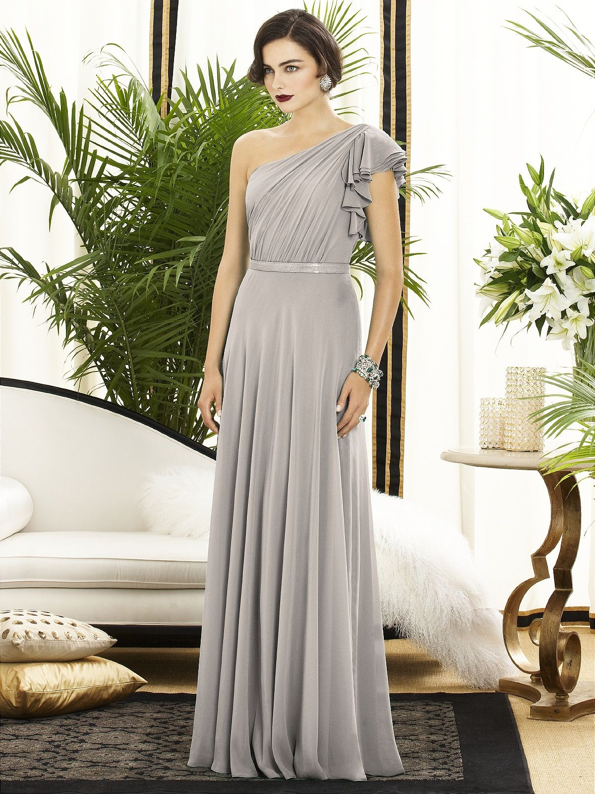 Dessy collection style chiffon bridesmaid dresses dress