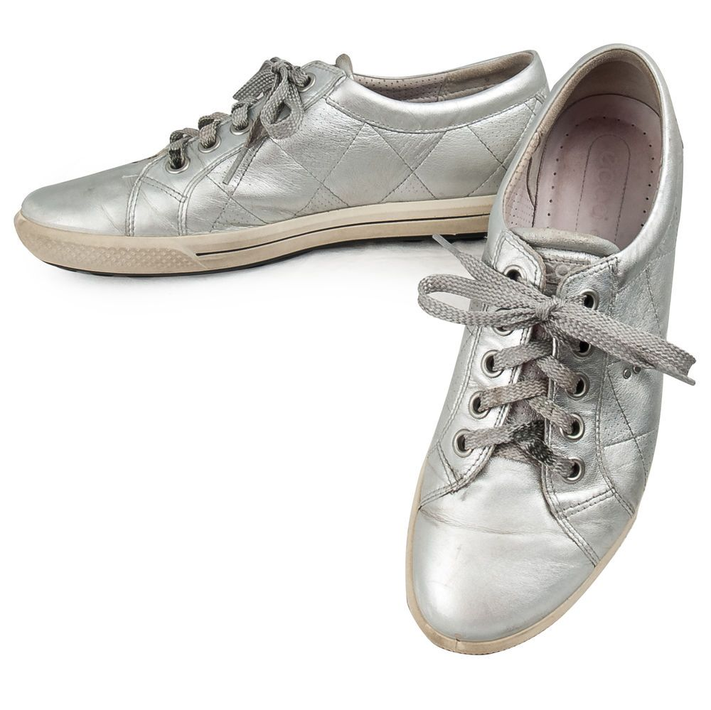 Ecco Silver Fashion Sneakers Womens EU 40 US 9/9.5 Leather Lace Up Metallic  #ECCO #FashionSneakers #SomeLikeItUsed | Pinterest | Clogs, eBay and  Footwear