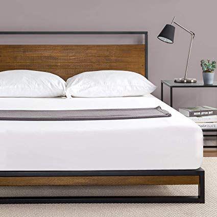 Amazon Com Zinus Ironline Metal And Wood Platform Bed