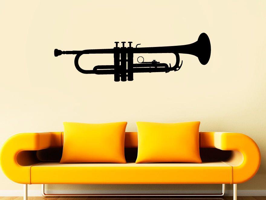 Vinyl Wall Decal Sticker Bedroom Music Instrument trumpet tube Girls ...